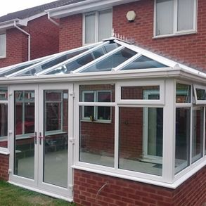 A conservatory built on a residential house