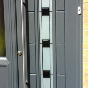 Close up of a new door installed by our team