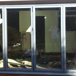 Bi-folding doors installed by our team on a new extension