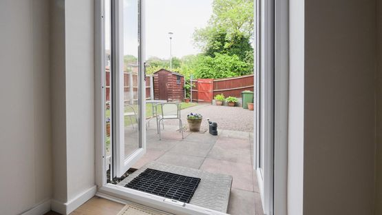 A patio door that has been installed by our skilled team